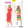 Misses Jersey Pleat Dress Burda Sewing Pattern 6641