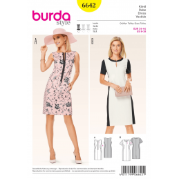 Misses Panel Pencil Smart Dress Burda Sewing Pattern 6642