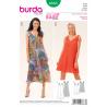 Misses Casual Tie Shoulder Summer Dress Burda Sewing Pattern 6663