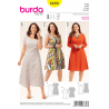Misses Plus Fit and Flare Dresses with Variations Burda Sewing Pattern 6680