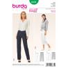 Misses Narrow Leg Trousers or Crops Burda Sewing Pattern 6681