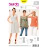 Misses Dress Blouse or Vest Top with Dart Neck Detail Burda Sewing Pattern 6685