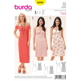 Misses Sundress Summer Dress Empire Waistline Burda Sewing Pattern 6686
