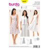 Misses Flared Panel Seam Dress and Matching Jacket Burda Sewing Pattern 6687