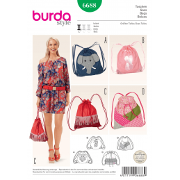 Bucket Bag Sport Leisure Burda Sewing Pattern 6688