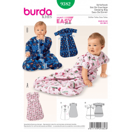 Burda Kids Babies Sleeping Bag Sleepsuit Sewing Pattern 9382
