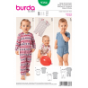 Kids Babies Bodysuit Babygrow Romper Burda Sewing Pattern 9384