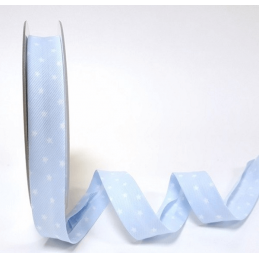 Light Blue 20mm Mini Scattered  Print Polycotton Bias Binding
