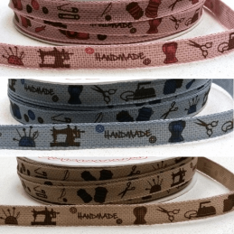 Bertie's Bows Handmade Sewing Print 10mm Wide Craft Ribbon