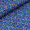 Missiles Rockets Spacecrafts Cotton Spandex Jersey Fabric (Megan Blue)