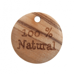 Trimits 2 x 18mm Wood Button Tag 100% Natural 28 lines Buttons