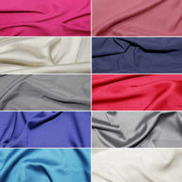 Soft Touch Satin Fabric Silk Look & Feel Spandex Stretch 145cm Wide