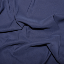 Navy Soft Touch Satin Fabric Silk Look & Feel Spandex Stretch