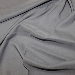Pewter Soft Touch Satin Fabric Silk Look & Feel Spandex Stretch