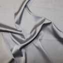 Silver Soft Touch Satin Fabric Silk Look & Feel Spandex Stretch
