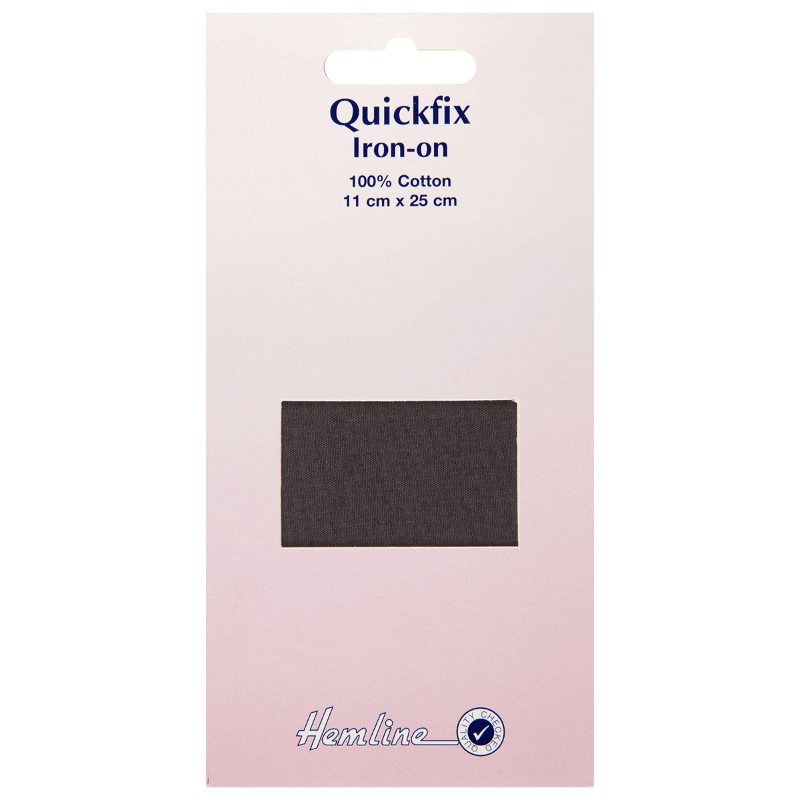 Hemline 11cm x 25cm Quickfix Repair Patch Iron On Cotton Mending