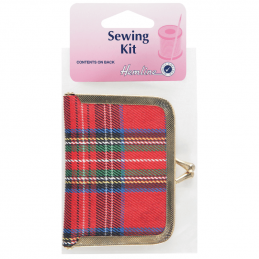 Hemline Royal Stewart Tartan Travel Sewing Kit Purse