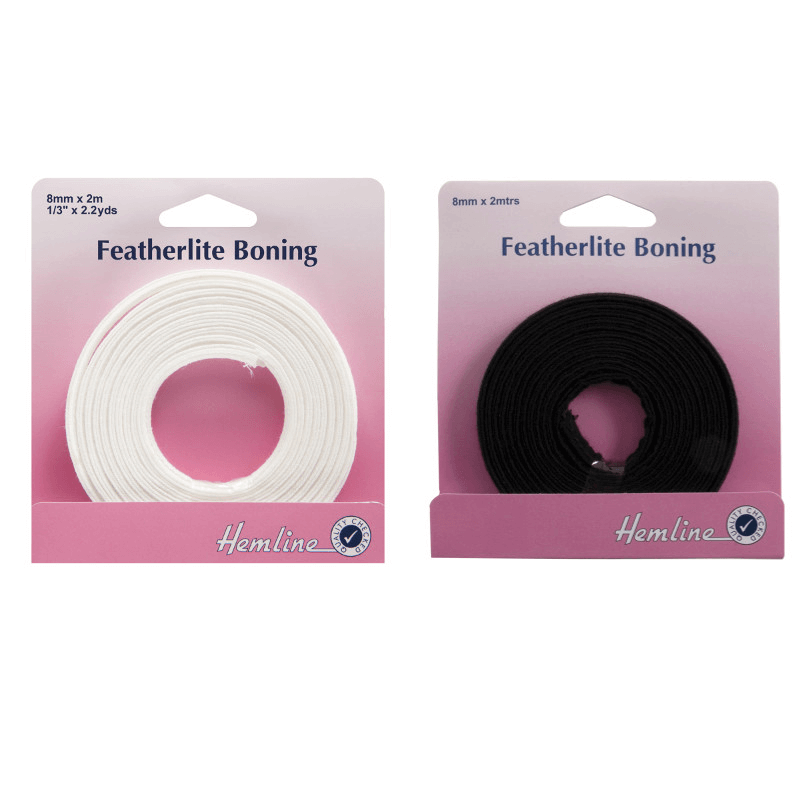 Hemline Featherlite Boning In White 2m x 8mm