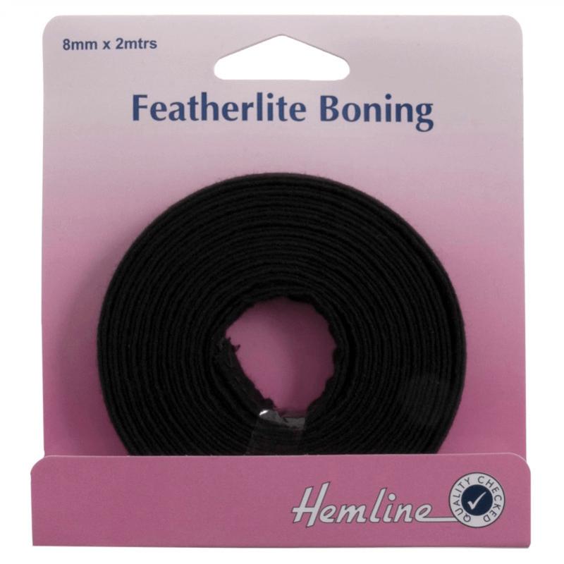 Hemline Featherlite Boning In White 2m x 8mm
