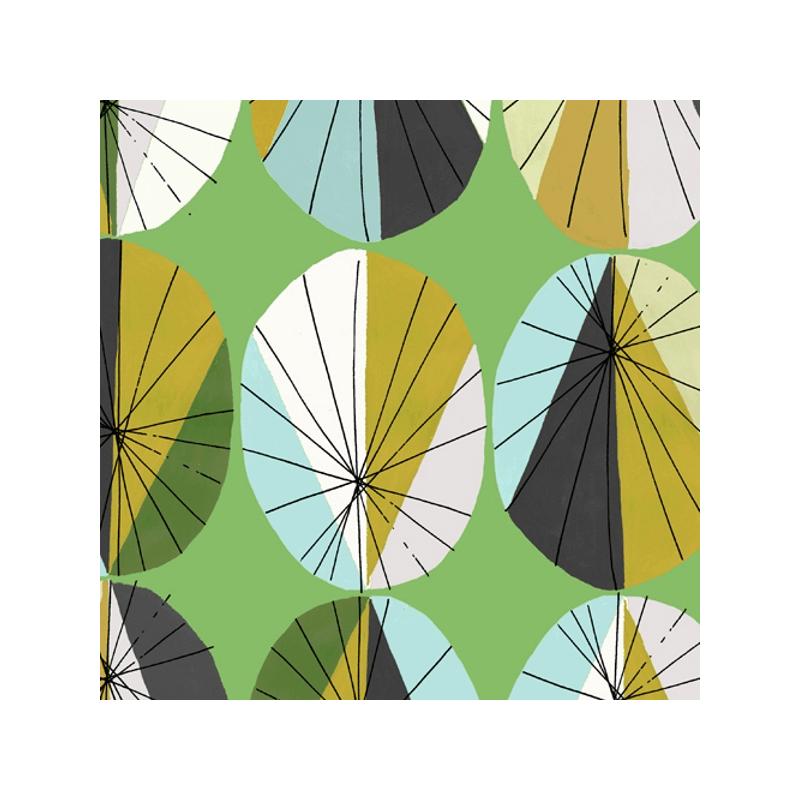 Geometric Large Parasols Shapes 100% Cotton Patchwork Fabric (Inprint)