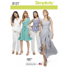 Misses Wrap Dress or Top with Trousers Simplicity Sewing Pattern 8137