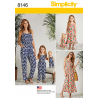 Matching Outfits for Misses, Child and Doll Simplicity Sewing Pattern 8146