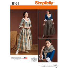 Misses 18th Century Highland Style Costumes Simplicity Sewing Pattern 8161