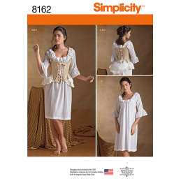 Misses 18th Century Undergarments Costumes Simplicity Sewing Pattern 8162