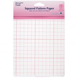 Hemline 3 x Squared Pattern Paper Dressmaking 87cm x 61cm