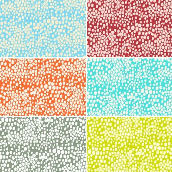 Seaside Pebbles Stones Rocks 100% Cotton Patchwork Fabric (Inprint)