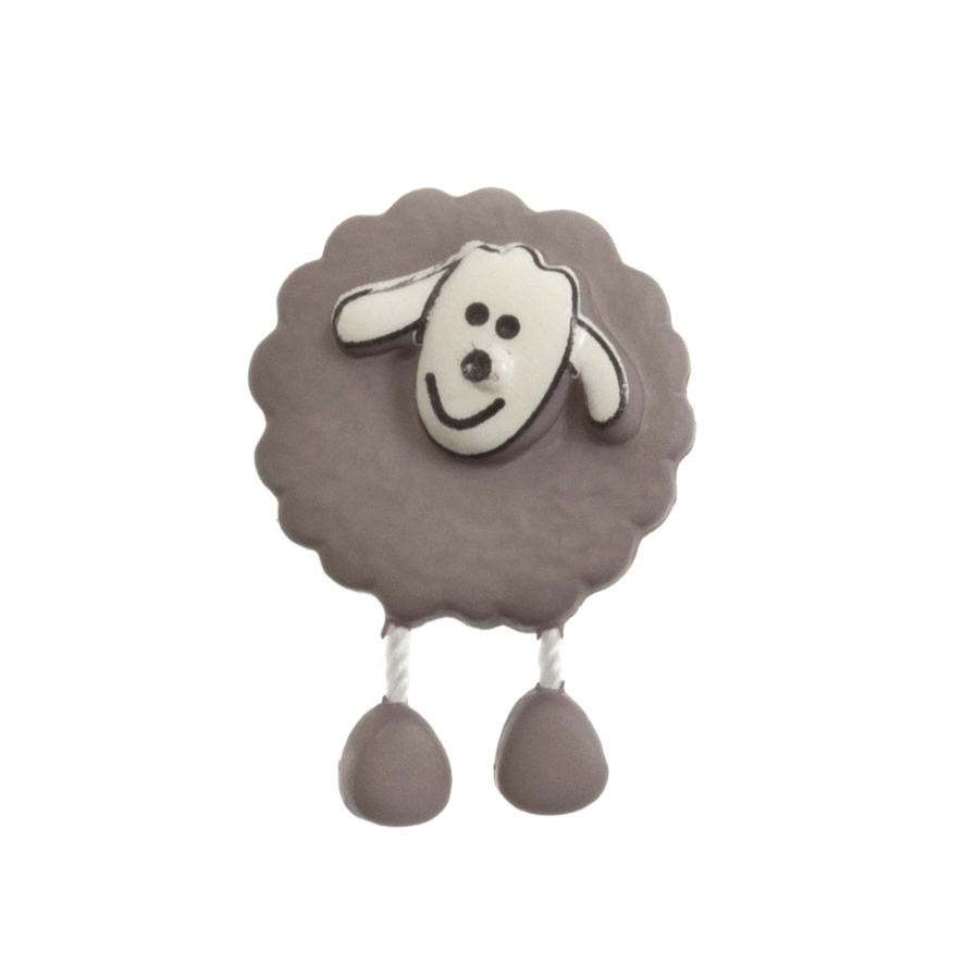 18mm Dangly Legged Sheep Cute Animals Novelty Button