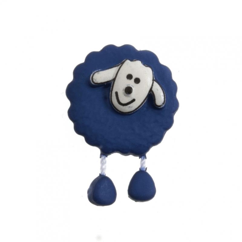 18mm Dangly Legged Sheep Cute Animals Novelty Button