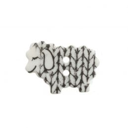 18mm Knitted Sleepy Sheep Cute Animals Novelty Button 28 Lignes