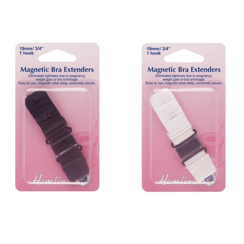 Hemline Magnetic Bra Back Extenders 19mm