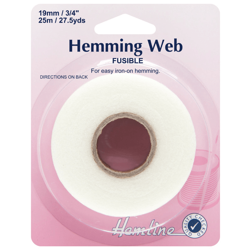 Hemline Hemming Web: Fusible - 19m x 25mm