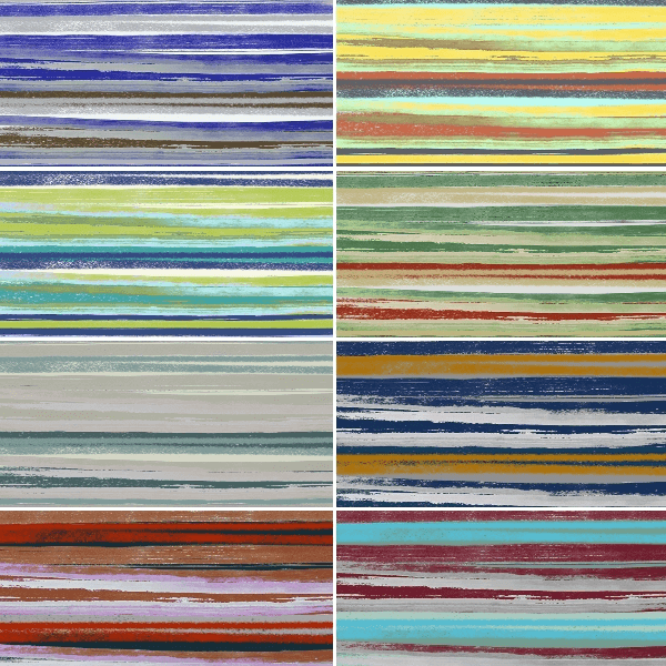 Painted Art Stripes Lines 100% Cotton Patchwork Fabric (Inprint)