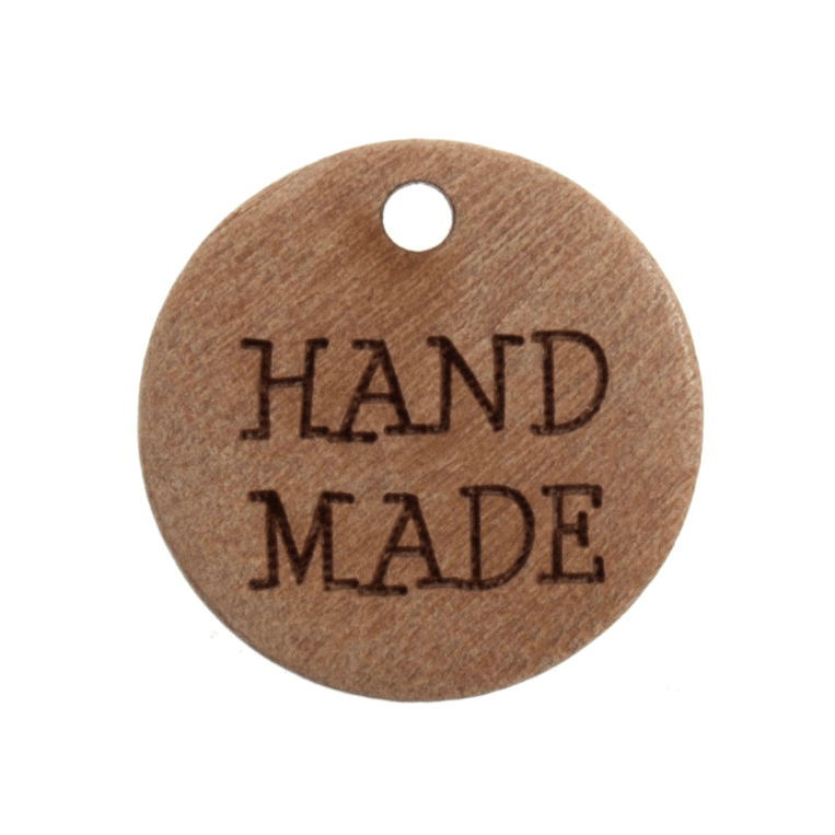 """Trimits 2 x 18mm """"Hand Made"""" Wooden Button Tag 28 lignes Buttons"""