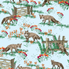 Rural Wild Foxes Animal Farmers Field 100% Cotton Patchwork Fabric (Inprint)