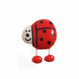 18mm Dangly Legged Cute Animals Cow Pig Ladybird Novelty Button 28 Lignes