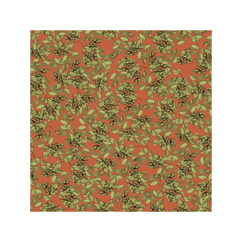 Autumnal Blustery Leaves 100% Cotton Patchwork Fabric (Inprint)