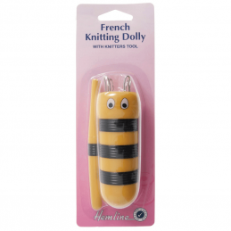 Hemline French Knitting Dolly Bee Design With Tool