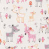 Pastel Watercolour Baby Deer Woodland Animals 100% Cotton Patchwork Fabric