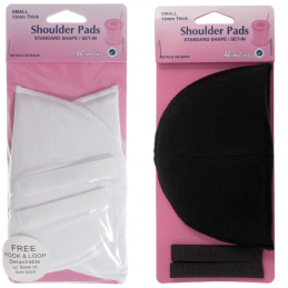 Hemline 1 Pair Shoulder Pads Standard Set In Small Cotton Covered