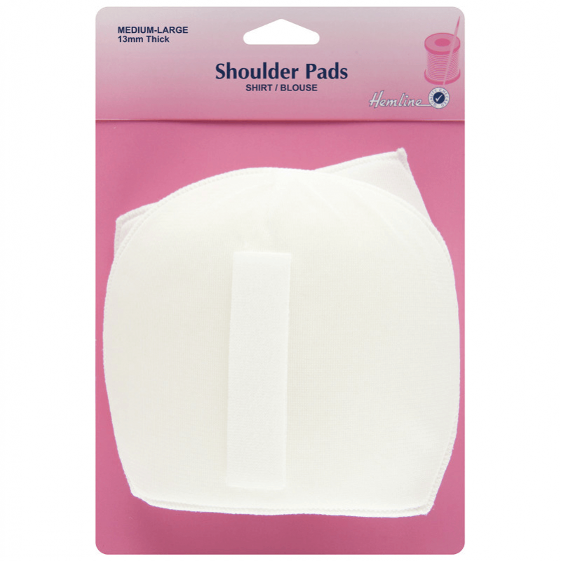 White Hemline Shoulder Pads For Shirt/Blouse Medium