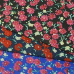 Summer Evening Joy Floral Polycotton Fabric (46)