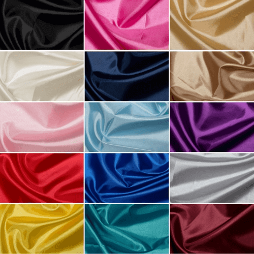 Black Plain Habotai Silk Lining Fabric