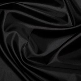 Black Plain Habotai Silk Lining Fabric