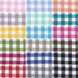 9mm Gingham Check Squares 100% Yarn Dyed Cotton Fabric (144cm Wide)