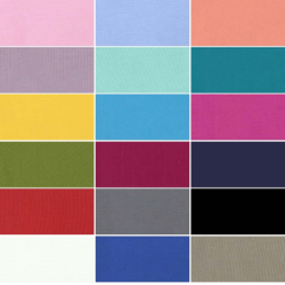 Plain Solid Coloured 100% Cotton Fabric (144cm Wide) (JL)