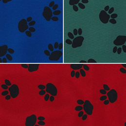 Dog Animal Paw PU Coated Water Repellent Fabric Waterproof